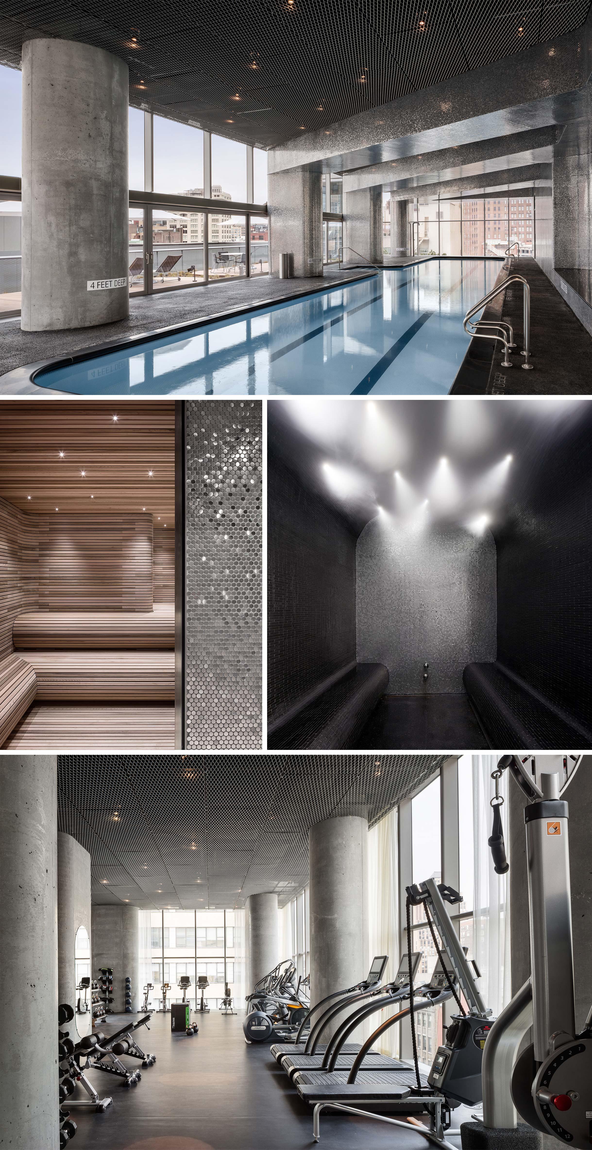 Luxury Amenities in TriBeCa Condos: Lap Pool, Steam Room, Sauna, Gym