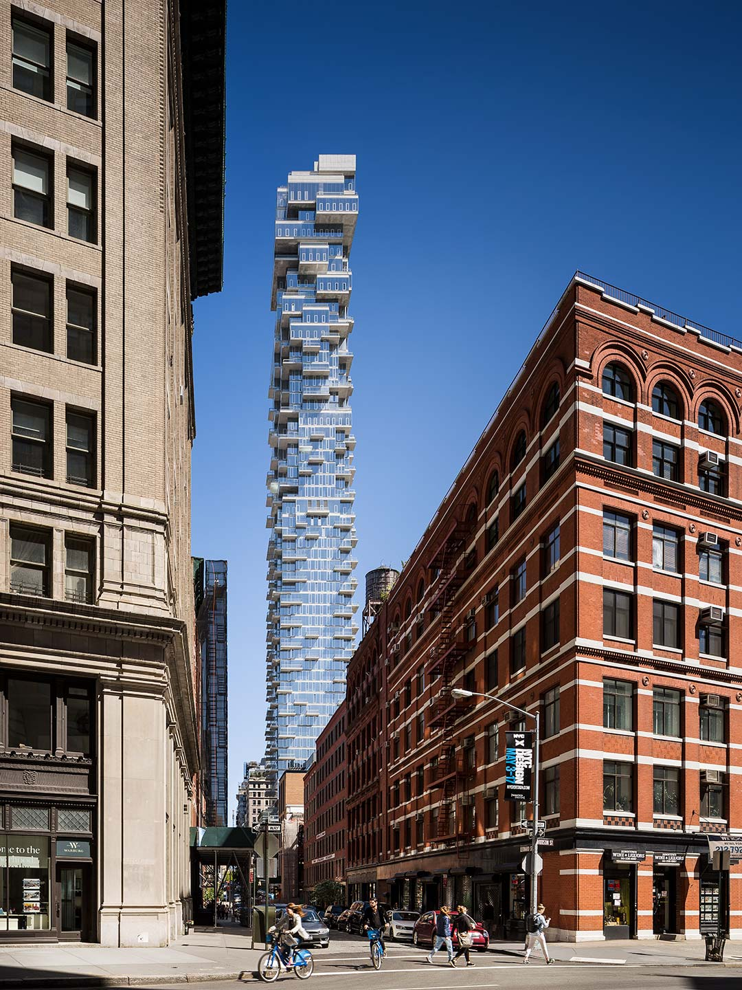 Herzog & de Meuron's 56 Leonard — view from the street