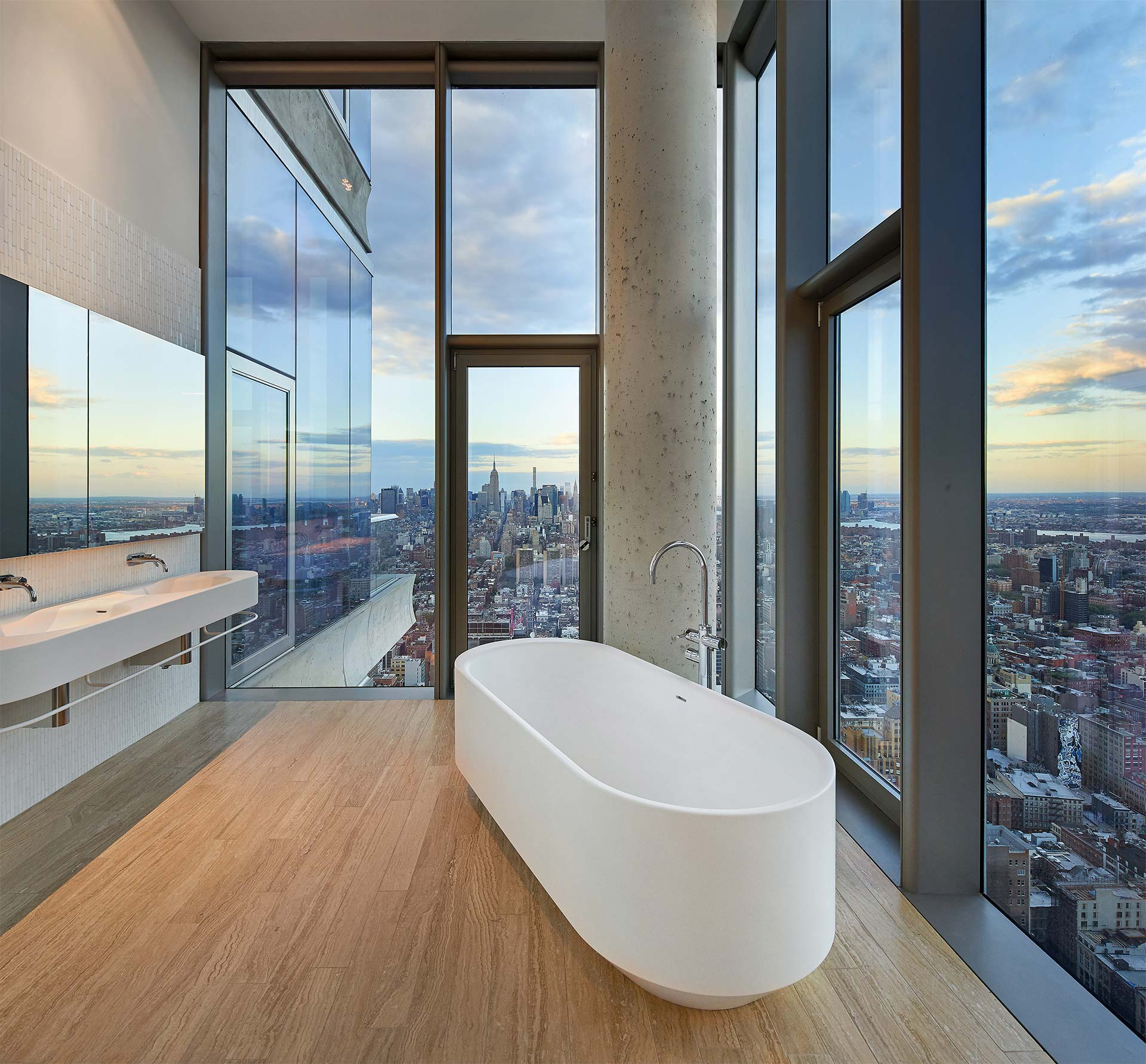 Herzog & de Meuron's custom designed bathrooms
