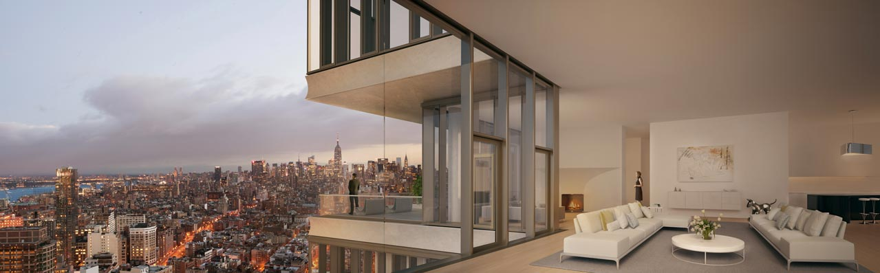 Tribeca's spatially dynamic penthouses and apartments