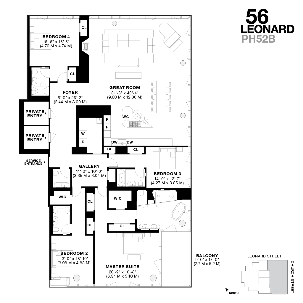 Hong Kong Apartment Floor Plan Iconic New Tribeca Penthouses For Sale 56 Leonard